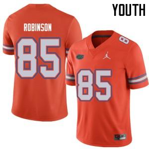 Jordan Brand Youth #85 James Robinson Florida Gators College Football Jerseys Orange 146270-627