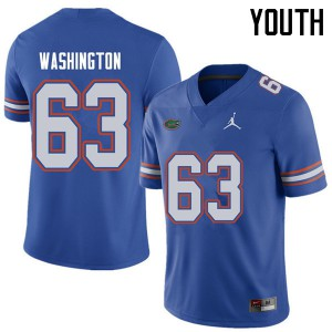 Jordan Brand Youth #63 James Washington Florida Gators College Football Jerseys Royal 672020-146