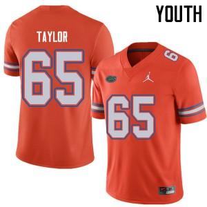 Jordan Brand Youth #65 Jawaan Taylor Florida Gators College Football Jerseys Orange 148534-621
