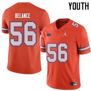 Jordan Brand Youth #56 Jean Delance Florida Gators College Football Jerseys Orange 530387-575
