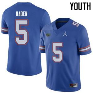 Jordan Brand Youth #5 Joe Haden Florida Gators College Football Jerseys Royal 499741-713