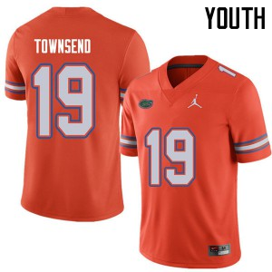 Jordan Brand Youth #19 Johnny Townsend Florida Gators College Football Jerseys Orange 554105-747