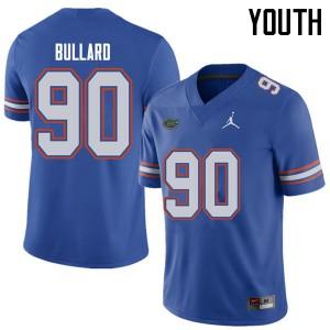 Jordan Brand Youth #90 Jonathan Bullard Florida Gators College Football Jerseys Royal 623494-976