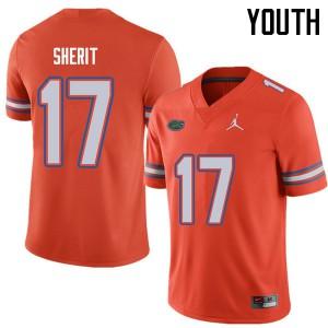 Jordan Brand Youth #17 Jordan Sherit Florida Gators College Football Jerseys Orange 602173-296