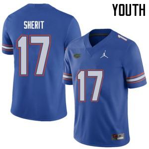 Jordan Brand Youth #17 Jordan Sherit Florida Gators College Football Jerseys Royal 662577-486