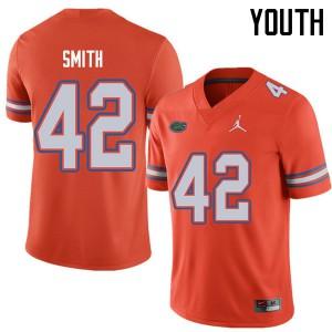 Jordan Brand Youth #42 Jordan Smith Florida Gators College Football Jerseys Orange 777511-633
