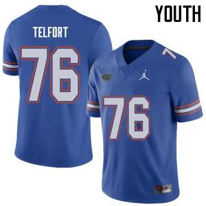 Jordan Brand Youth #76 Kadeem Telfort Florida Gators College Football Jerseys Royal 595935-550