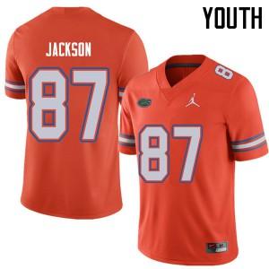 Jordan Brand Youth #87 Kalif Jackson Florida Gators College Football Jerseys Orange 223999-656