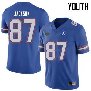 Jordan Brand Youth #87 Kalif Jackson Florida Gators College Football Jerseys Royal 239079-877