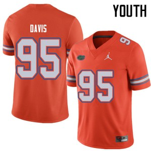 Jordan Brand Youth #95 Keivonnis Davis Florida Gators College Football Jerseys Orange 720131-335