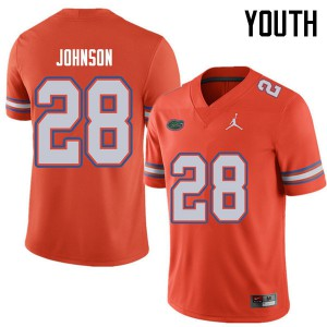 Jordan Brand Youth #28 Kylan Johnson Florida Gators College Football Jerseys Orange 330668-529