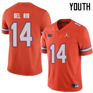 Jordan Brand Youth #14 Luke Del Rio Florida Gators College Football Jerseys Orange 545003-145