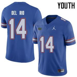 Jordan Brand Youth #14 Luke Del Rio Florida Gators College Football Jerseys Royal 404511-545
