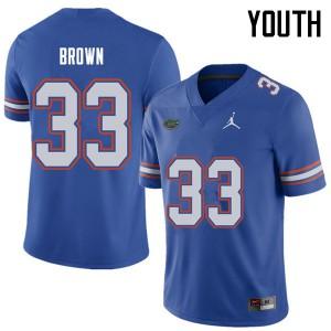 Jordan Brand Youth #33 Mack Brown Florida Gators College Football Jerseys Royal 871340-842