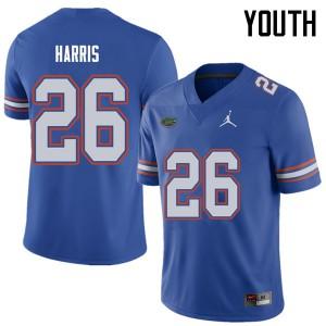 Jordan Brand Youth #26 Marcell Harris Florida Gators College Football Jerseys Royal 387177-237
