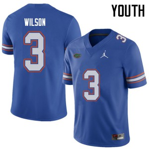 Jordan Brand Youth #3 Marco Wilson Florida Gators College Football Jerseys Royal 482973-989