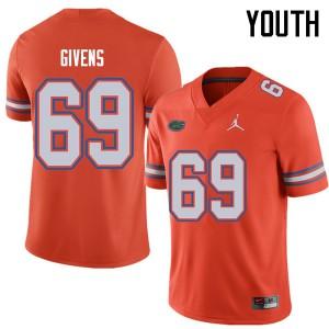 Jordan Brand Youth #69 Marcus Givens Florida Gators College Football Jerseys Orange 192056-273