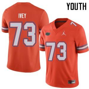 Jordan Brand Youth #73 Martez Ivey Florida Gators College Football Jerseys Orange 391543-504