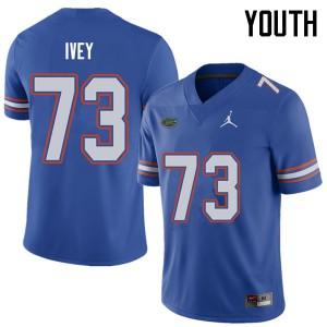 Jordan Brand Youth #73 Martez Ivey Florida Gators College Football Jerseys Royal 448361-661