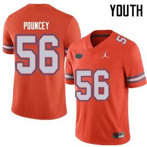 Jordan Brand Youth #56 Maurkice Pouncey Florida Gators College Football Jerseys Orange 974489-143