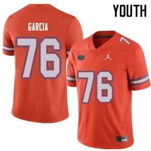 Jordan Brand Youth #76 Max Garcia Florida Gators College Football Jerseys Orange 200606-645