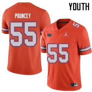 Jordan Brand Youth #55 Mike Pouncey Florida Gators College Football Jerseys Orange 278470-880