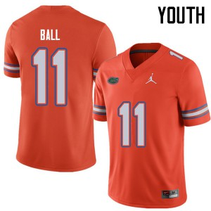Jordan Brand Youth #11 Neiron Ball Florida Gators College Football Jerseys Orange 495215-422