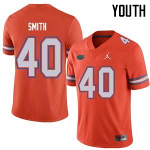 Jordan Brand Youth #40 Nick Smith Florida Gators College Football Jerseys Orange 357968-491