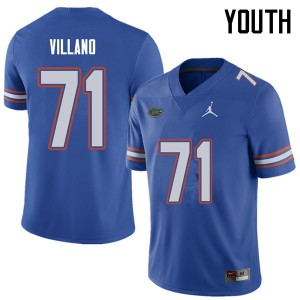 Jordan Brand Youth #71 Nick Villano Florida Gators College Football Jerseys Royal 226611-172