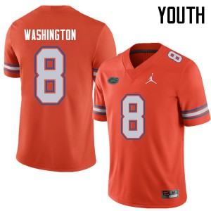 Jordan Brand Youth #8 Nick Washington Florida Gators College Football Jerseys Orange 254821-512
