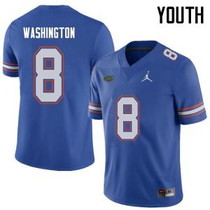 Jordan Brand Youth #8 Nick Washington Florida Gators College Football Jerseys Royal 706758-284