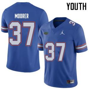 Jordan Brand Youth #37 Patrick Moorer Florida Gators College Football Jerseys Royal 622106-808
