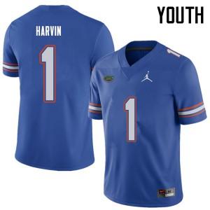 Jordan Brand Youth #1 Percy Harvin Florida Gators College Football Jerseys Royal 711908-611