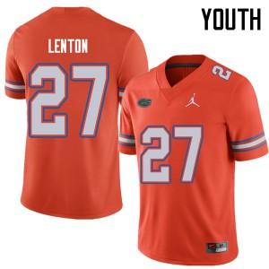 Jordan Brand Youth #27 Quincy Lenton Florida Gators College Football Jerseys Orange 669589-406