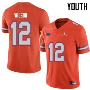 Jordan Brand Youth #12 Quincy Wilson Florida Gators College Football Jerseys Orange 910732-910
