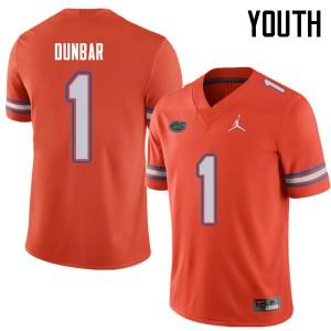 Jordan Brand Youth #1 Quinton Dunbar Florida Gators College Football Jerseys Orange 406843-651