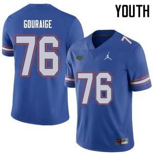 Jordan Brand Youth #76 Richard Gouraige Florida Gators College Football Jerseys Royal 758952-152