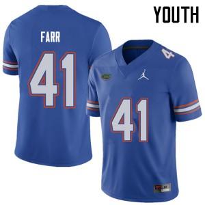 Jordan Brand Youth #41 Ryan Farr Florida Gators College Football Jerseys Royal 447569-437