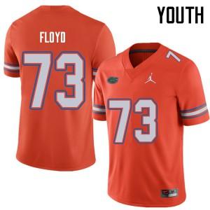 Jordan Brand Youth #73 Sharrif Floyd Florida Gators College Football Jerseys Orange 996587-276