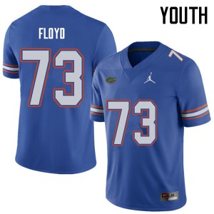 Jordan Brand Youth #73 Sharrif Floyd Florida Gators College Football Jerseys Royal 603154-795