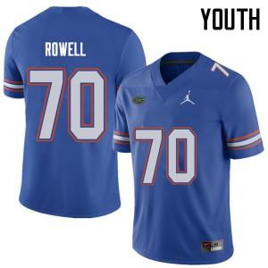 Jordan Brand Youth #70 Tanner Rowell Florida Gators College Football Jerseys Royal 197373-943