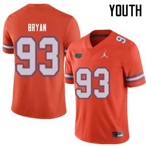 Jordan Brand Youth #93 Taven Bryan Florida Gators College Football Jerseys Orange 553992-996