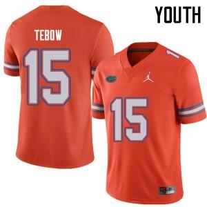 Jordan Brand Youth #15 Tim Tebow Florida Gators College Football Jerseys Orange 283063-373