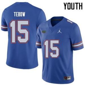 Jordan Brand Youth #15 Tim Tebow Florida Gators College Football Jerseys Royal 544627-915