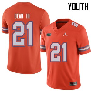Jordan Brand Youth #21 Trey Dean III Florida Gators College Football Jerseys Orange 186424-959