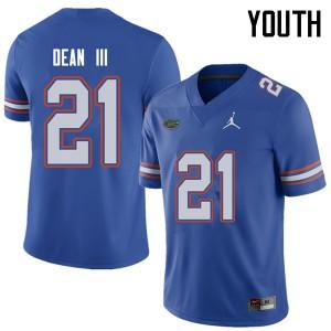Jordan Brand Youth #21 Trey Dean III Florida Gators College Football Jerseys Royal 989506-585
