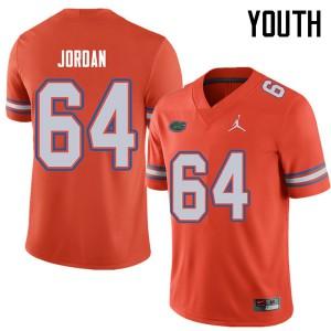 Jordan Brand Youth #64 Tyler Jordan Florida Gators College Football Jerseys Orange 606874-472