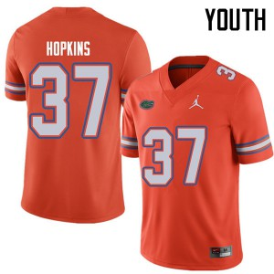 Jordan Brand Youth #37 Tyriek Hopkins Florida Gators College Football Jerseys Orange 358910-629
