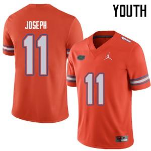 Jordan Brand Youth #11 Vosean Joseph Florida Gators College Football Jerseys Orange 671363-642