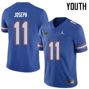 Jordan Brand Youth #11 Vosean Joseph Florida Gators College Football Jerseys Royal 868215-945